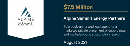 Alpine Summit Energy Partners-August 2021