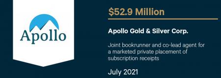 Apollo Gold & Silver Corp.-July 2021