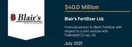 Blair's Fertilizer Ltd.-July 2021