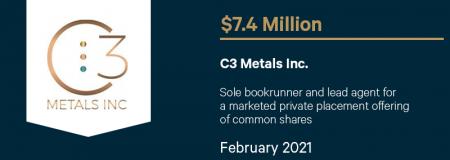 C3 Metals Inc-February 2021