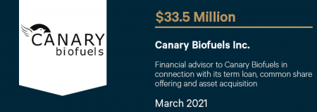 Canary Biofuels Inc.-March 2021