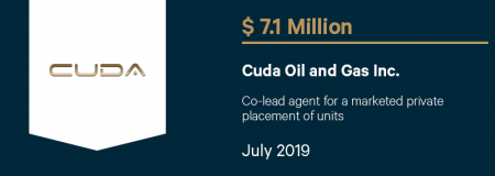 CudaOilandGasInc_$7.1M_July2019_CorporateFinance