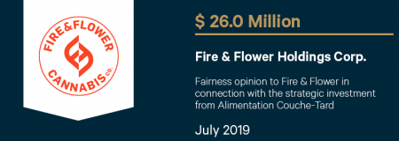 Fire&FlowerHoldingsCorp_$26.0M_July2019_Advisory