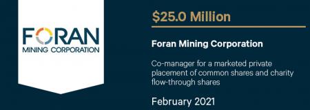 Foran Mining Corporation-February 2021