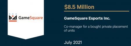 GameSquare Esports Inc-July 2021