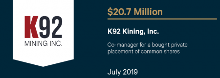 K92MiningInc_$20.7M_July2019_CorporateFinance