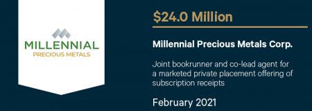 Millennial Precious Metals Corp-February 2021