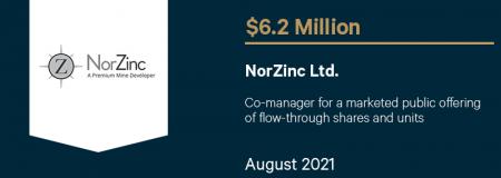 NorZinc Ltd.-August 2021