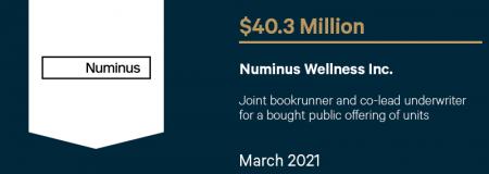 Numinus Wellness Inc-March 2021