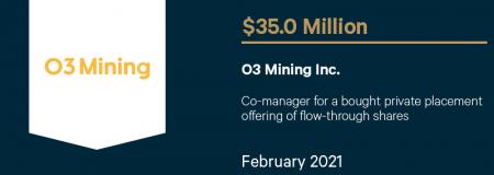 O3 Mining Inc-February 2021