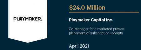Playmaker Capital Inc.-April 2021