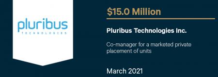 Pluribus Technologies Inc-March 2021