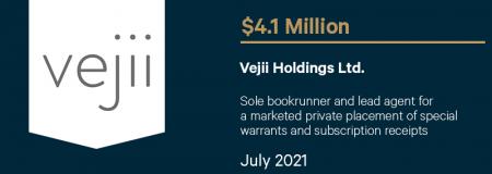 Vejii Holdings Ltd.-July 2021