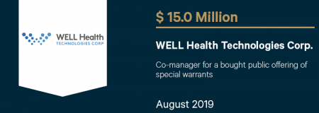 WELLHealthTechnologiesCorp_$15.0M_August2019_CorporateFinance
